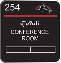 Image of the Conference Room sign in Lushootseed
