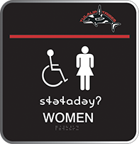 Image of the Womens' room sign in the Lushootseed language